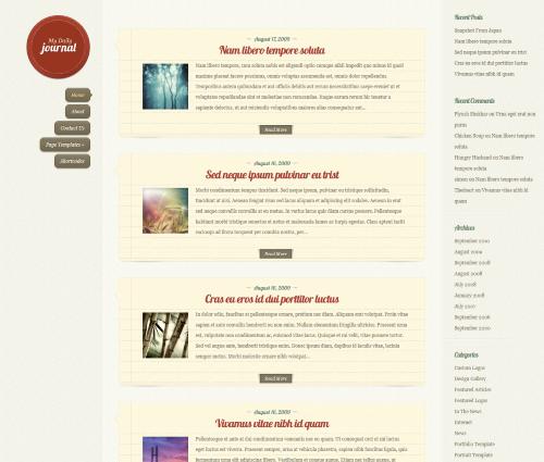 DailyJournal wordpress theme